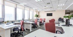 Empty office using energy